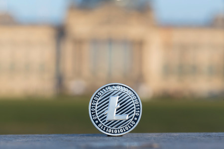 litecoin in front of german bundestag berlin