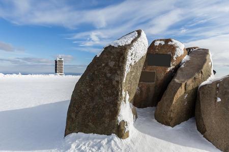 brocken germany mountain top stones Standard-Bild - 96692483