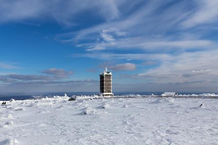 brocken mountain germany winter landscape Standard-Bild - 96867354