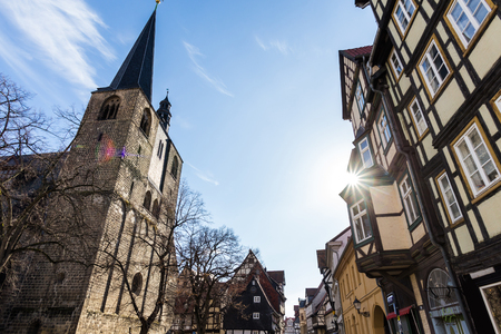 historic buildings quedlinburg germany Standard-Bild - 96788412