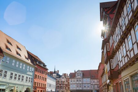 historic buildings quedlinburg germany Standard-Bild - 96848497