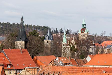 quedlinburg germany from above Standard-Bild - 96864921