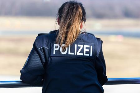 german female police officer