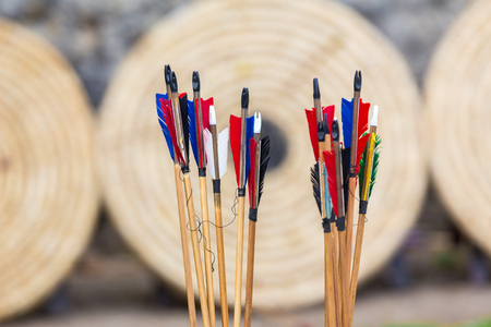 bow and arrow target background