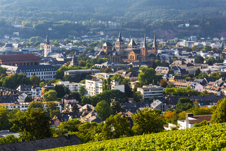 historic trier germany from above Stock Photo