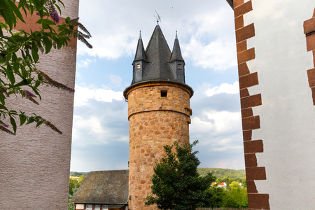 wetter historic village hesse germany 스톡 콘텐츠