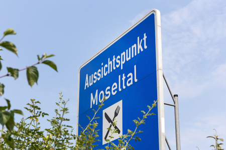 Mosel Valley highway sign germany