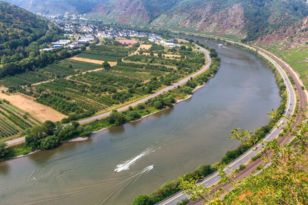 Mosel Valley germany in the summer Stock Photo