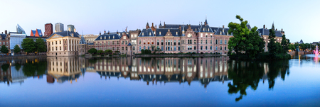 the hague netherlands evening reflections high definition panorama