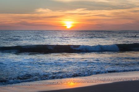 Seaside sundown background Stockfoto