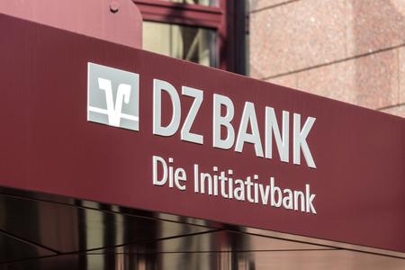 frankfurt, hessegermany - 11 10 18: dz bank sign in frankfurt germany