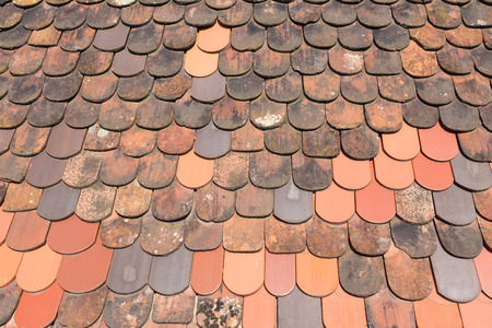 German vintage roof tiles background Stockfoto