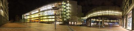 european parliament brussels belgium at night high definition panorama Redactioneel