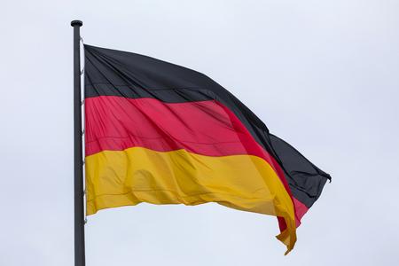 an big german flag waving in the wind