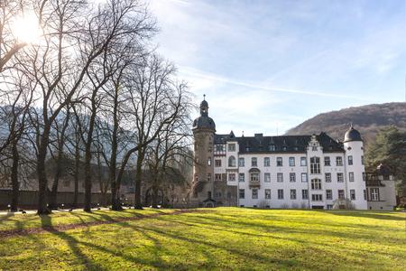 castle namedy near the rhine river germany
