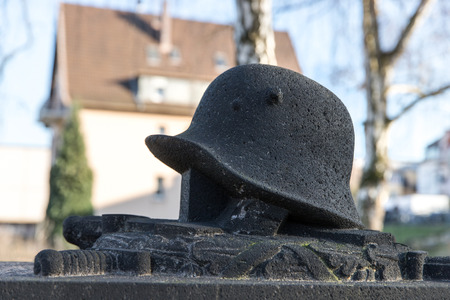 grave statue of an soldier Stockfoto