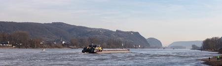 rhine river landscape germany panorama
