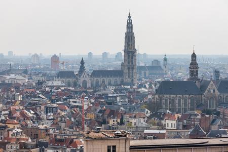 antwerpen belgium cityscape from above