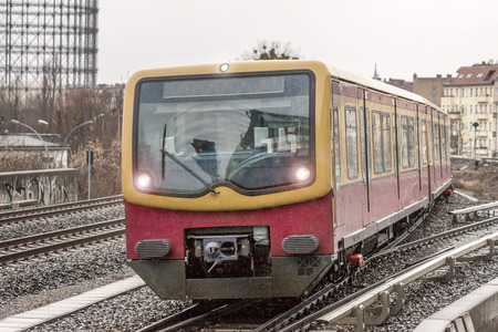urban city train in berlin germany