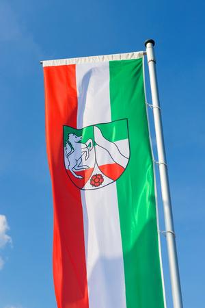 flag of North Rhine Westphalia germany