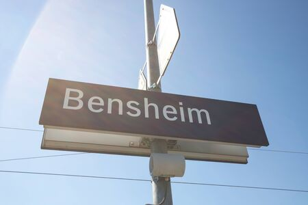 bensheim hesse germany city sign