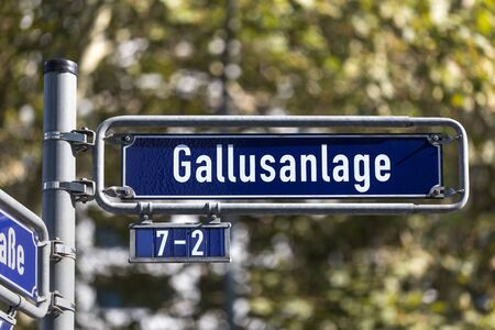 gallusanlage street sign in frankfurt am main germany