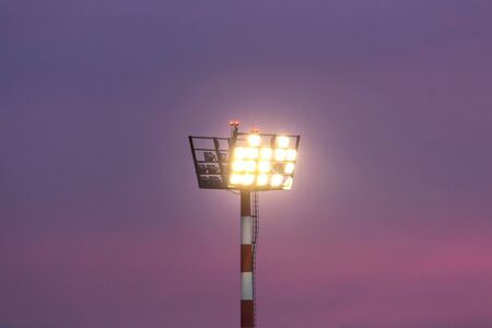 floodlight spotlight evening background Stockfoto