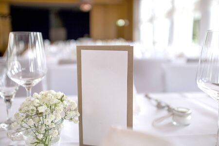 white card textfield at luxury dinner table