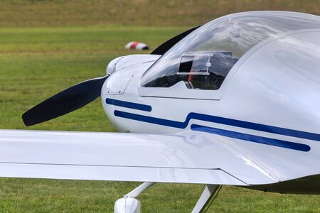 sport aircraft on a flying field Stockfoto
