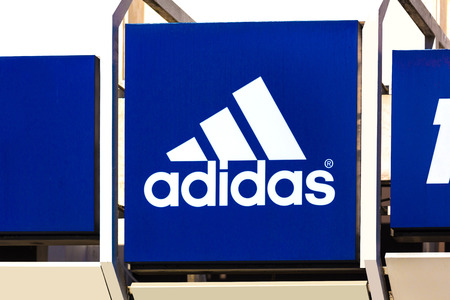 troisdorf, North Rhine-Westphaliagermany - 16 11 18: adidas sign in troisdorf germany