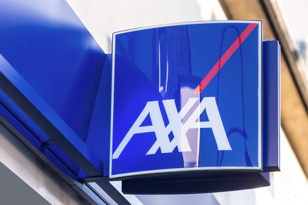 troisdorf, North Rhine-Westphaliagermany - 16 11 18: axa sign in troisdorf germany