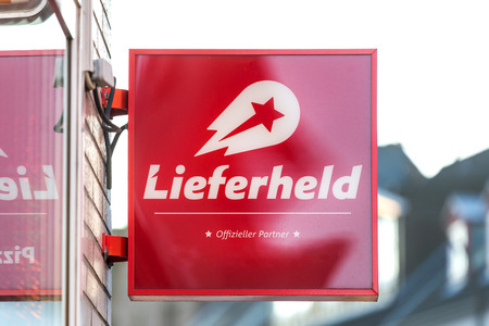troisdorf, North Rhine-Westphaliagermany - 16 11 18: lieferheld sign in troisdorf germany Redactioneel