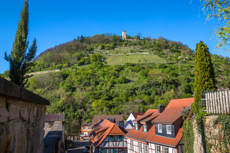 historic castle starkenburg near heppenheim germany