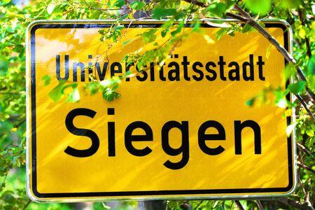 siegen germany city summer sign Stockfoto - 128220721