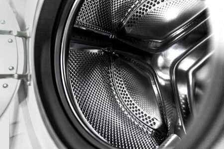 washing machine black and white Stockfoto