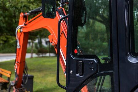 small excavator outdoors