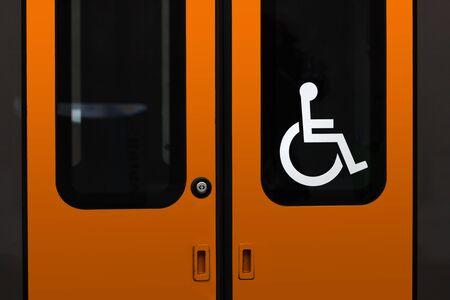 disabled entrance on the train Zdjęcie Seryjne