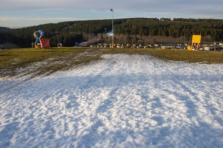 winterberg, North Rhine-Westphaliagermany - 15 01 2020: winterberg mountains in winter without real snow in germany