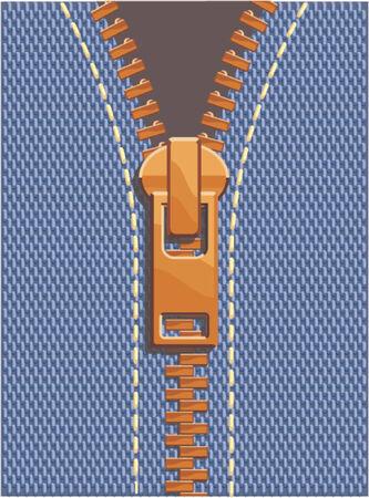 clothes Zipper Illusztráció