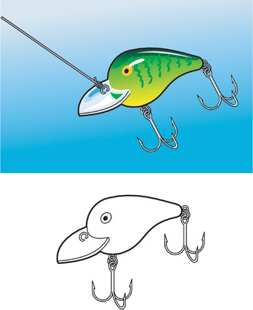 Fishing Lure Stock Vector - 1103665