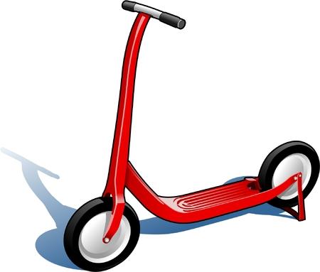 deslizamiento: Scooter Roja