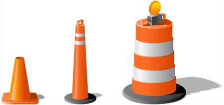 Construction Cones and Barrel