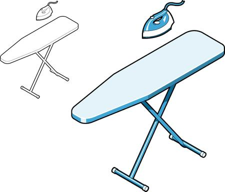 Ironing Board and Iron Stock Vector - 3109629