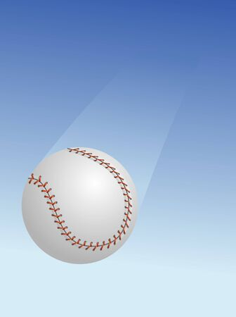 Illustration of a baseball falling from the sky.