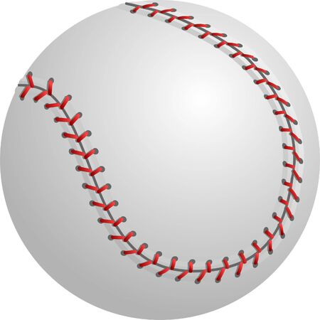 Illustration of an isolated baseball