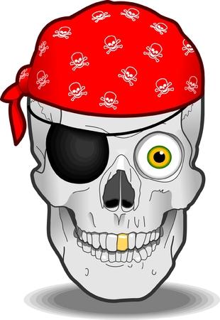 pirate skull: Pirata Calavera