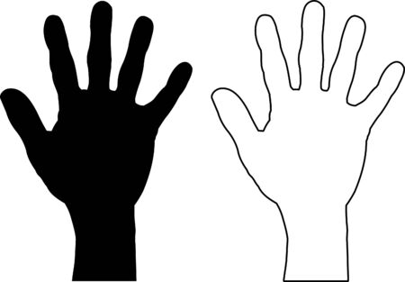 Hand Silhouette Vettoriali