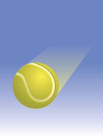 Tennis Ball Through the Air Stock Vector - 3449053