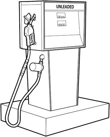 Gas of benzine pomp  Stock Illustratie