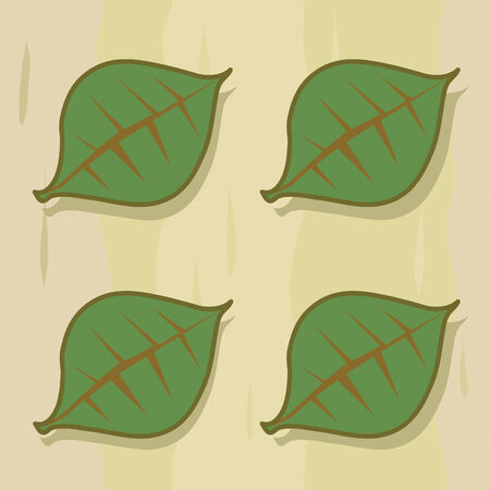 Stylized four leaf pattern with background. This image works as a tile pattern.